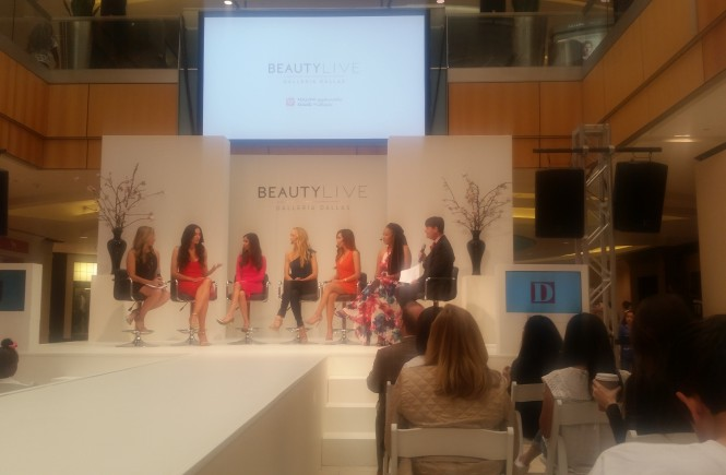 Beauty panel at the Galleria Mall