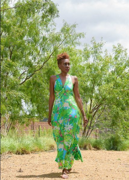 Summer green consignment maxi dress